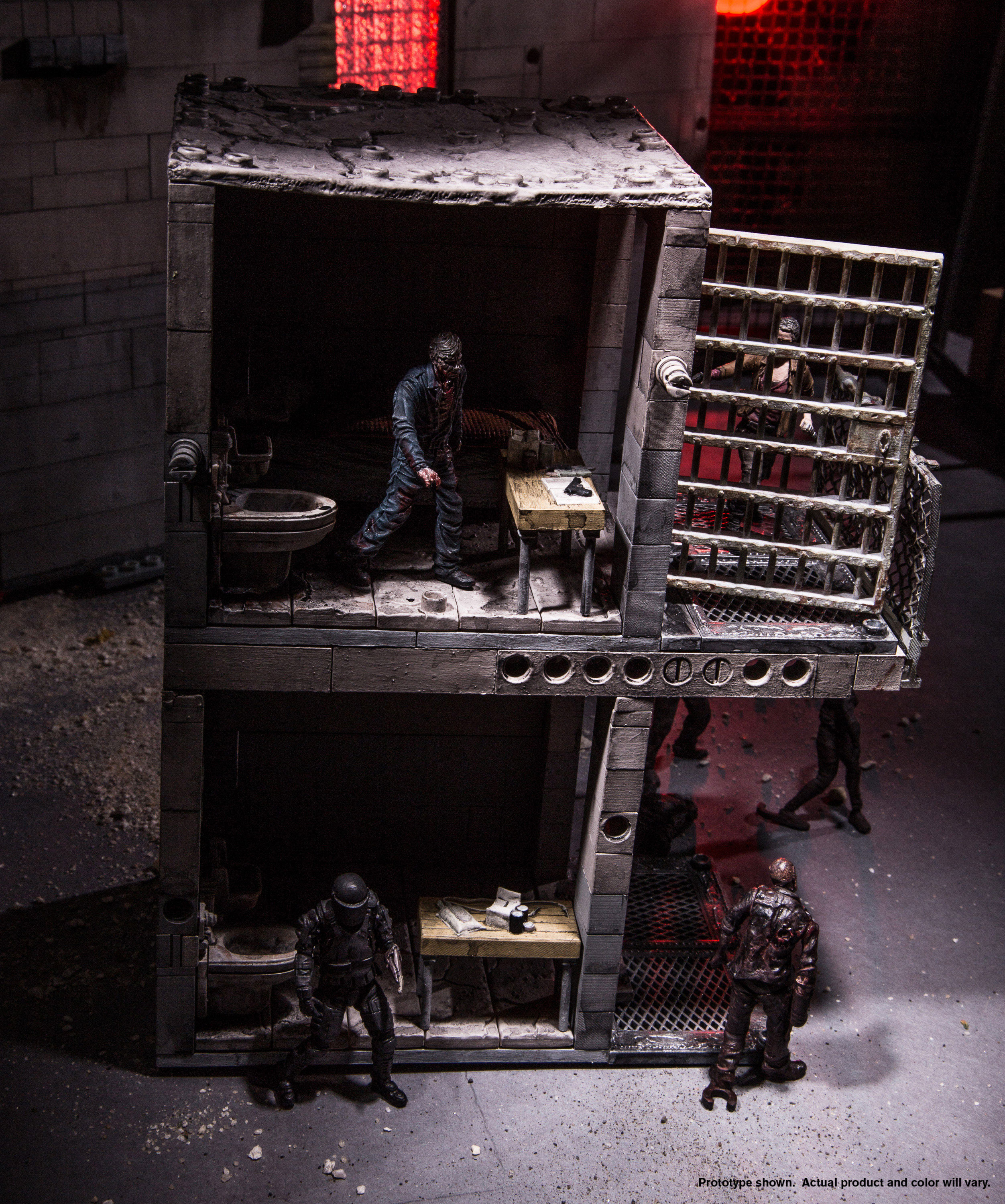 Sealed! McFarlane THE WALKING DEAD Upper Prison Cell Kit With WALKER Figure New