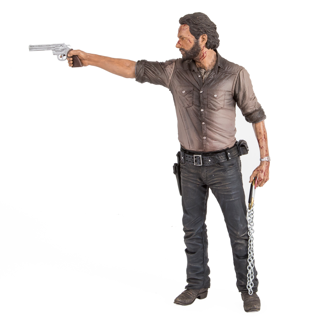 """RICK GRIMES THE WALKING DEAD TV SERIES 10/"""" DELUXE ACTION FIGURE MCFARLANE TOYS"""