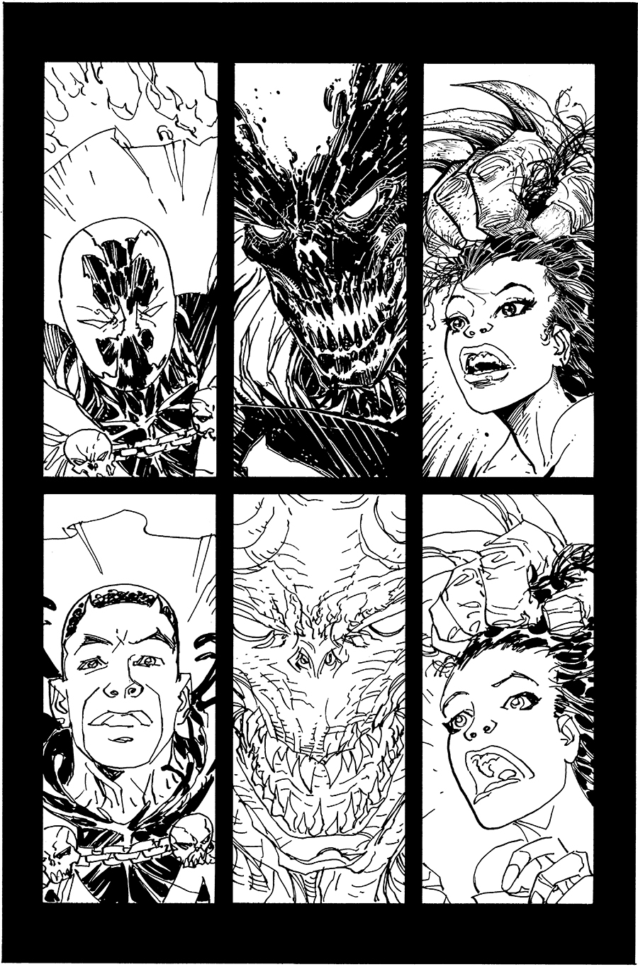 Todd\'s Tips & My Favorite Inked Pages (so far) from Spawn #259