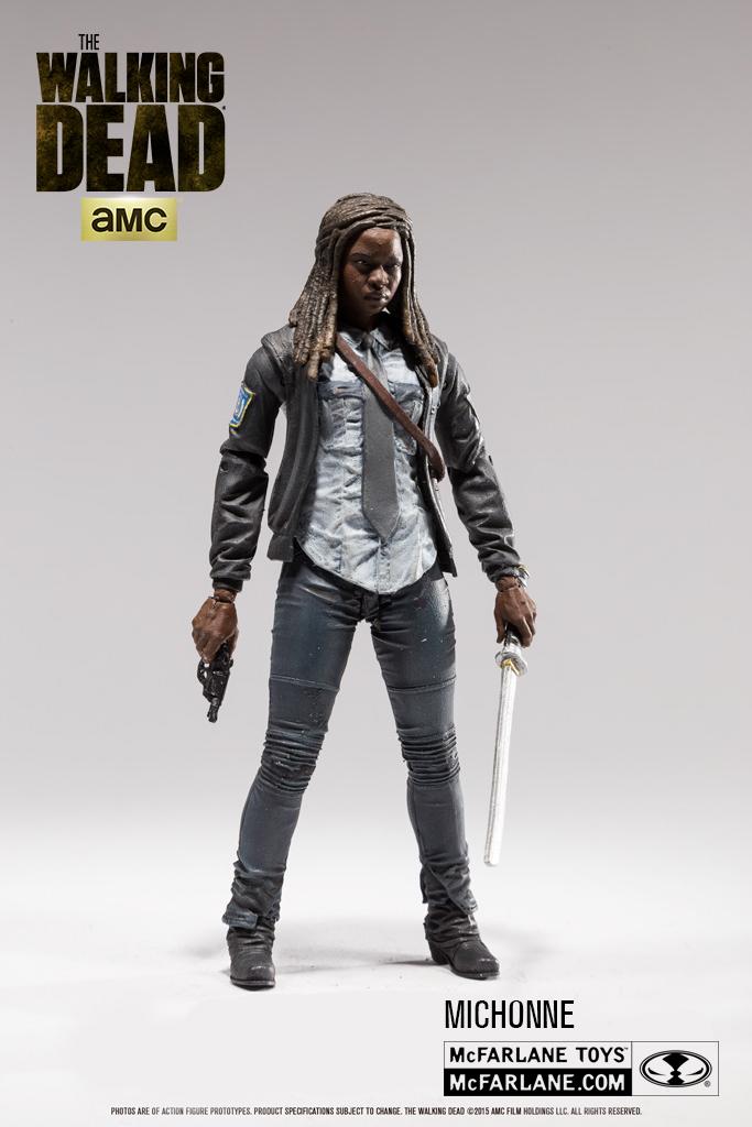 "WALKING DEAD SERIES 9 5/"" Action Figure-Daryl Michonne Beth McFarlane"