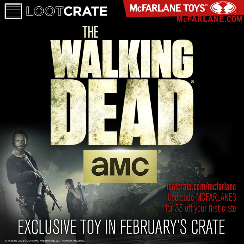 Loot Crate Exclusive The Walking Dead Construction Sets Collectable Figures