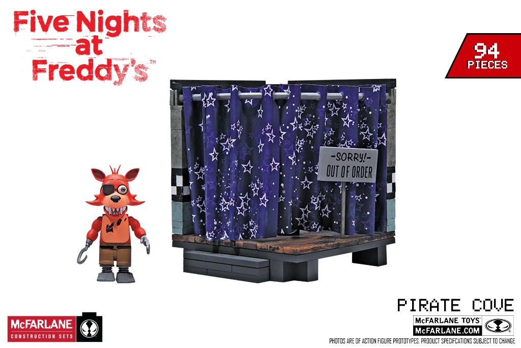 McFarlane Toys Five at Freddy/'s Pirate Cove Classic Series  Small Constructio...