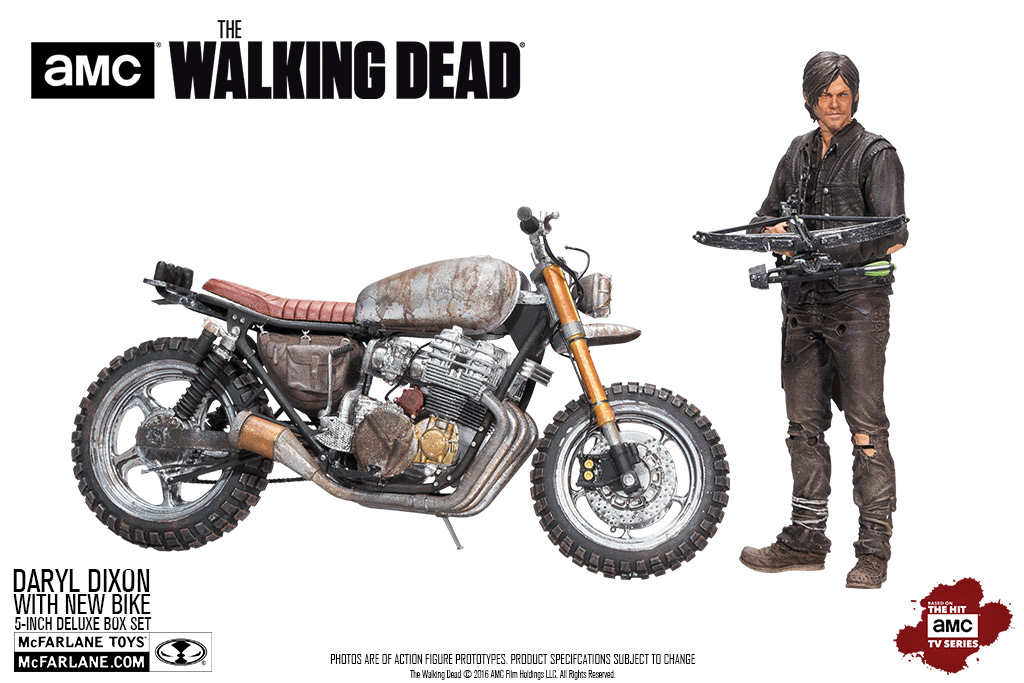 Daryl with new bike deluxe box brand the walking dead tv genre movies