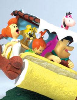 "Hanna-Barbera the Flintstones Fred Dino TV Show Cartoon 1/"" mini figures Figurine"
