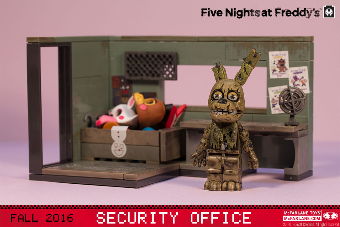 SECURITY OFFICE WITH SPRINGTRAP