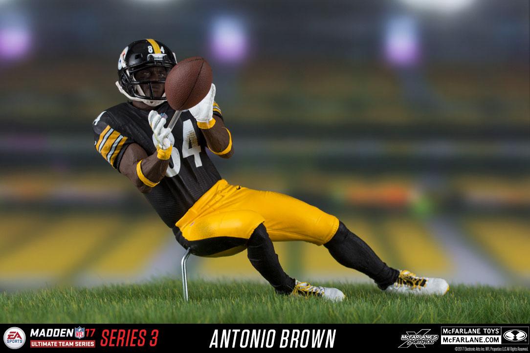 McFarlane EA Sports Madden 17 ANTONIO BROWN Steelers Ultimate Team Series Figure