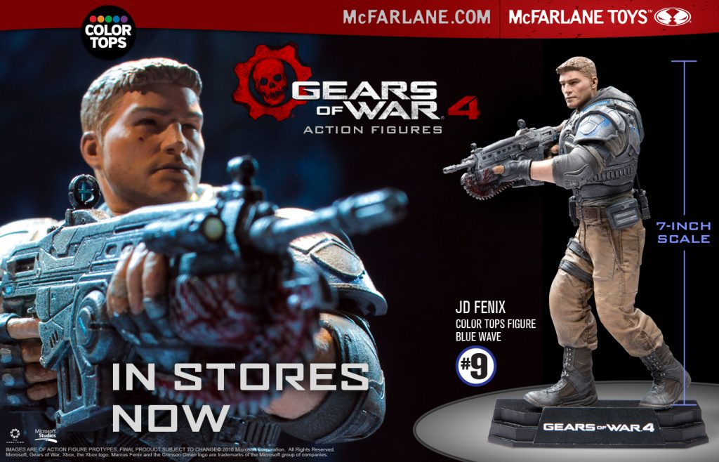 Color Tops 7″ JD Fenix from Gears of War 4 … In Stores!