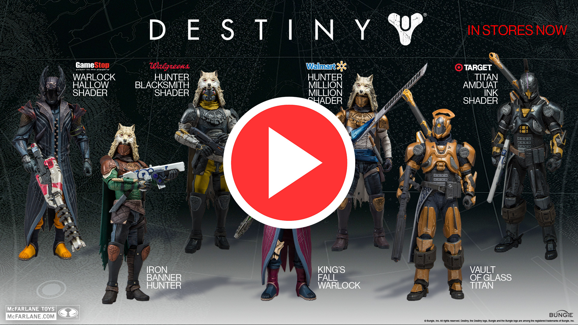 Official Destiny Action Figure Iron Banner Hunter Million Million Shader