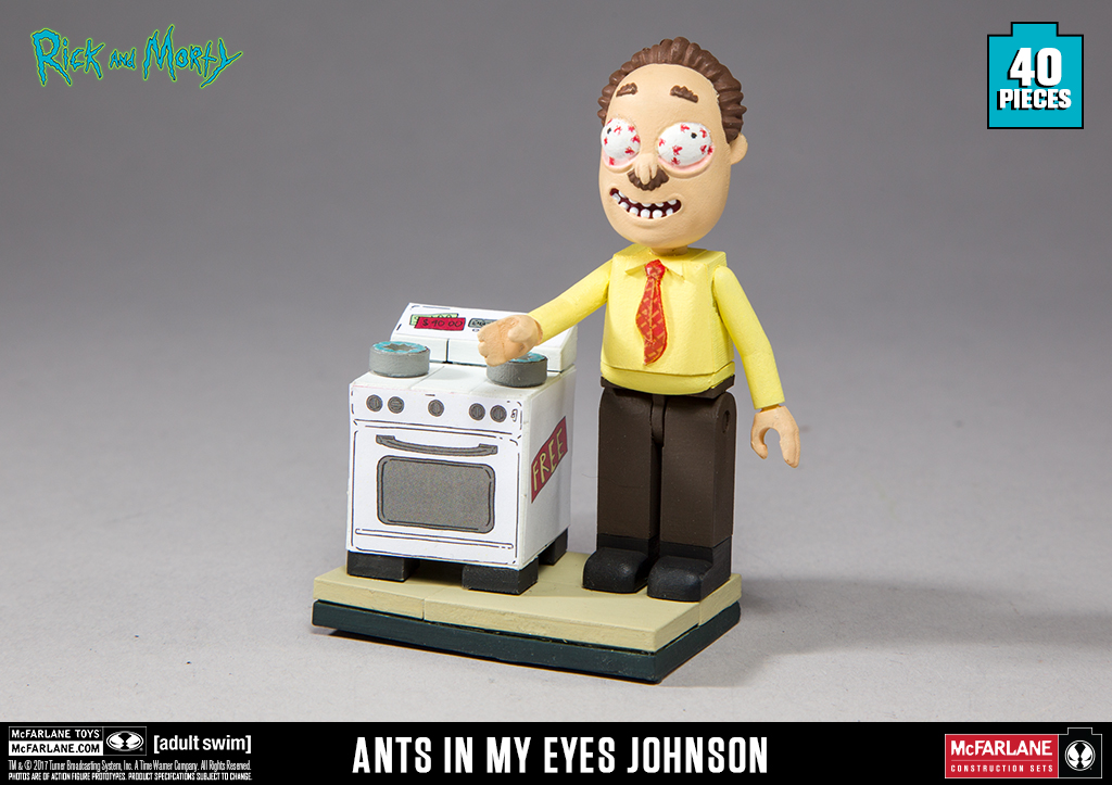 Rick And Morty Ants In My Eyes Johnson Electronics 40 Piece Construction Set