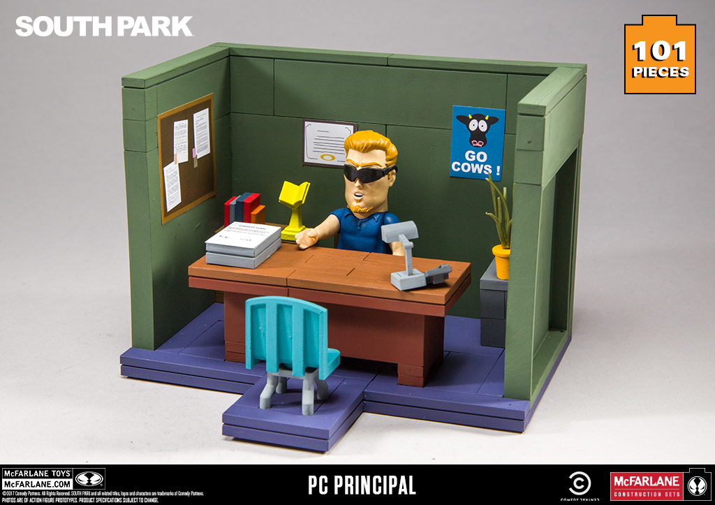 McFarlane Toys Building Small Sets PRINCIPAL/'S OFFICE NEW!!! South Park