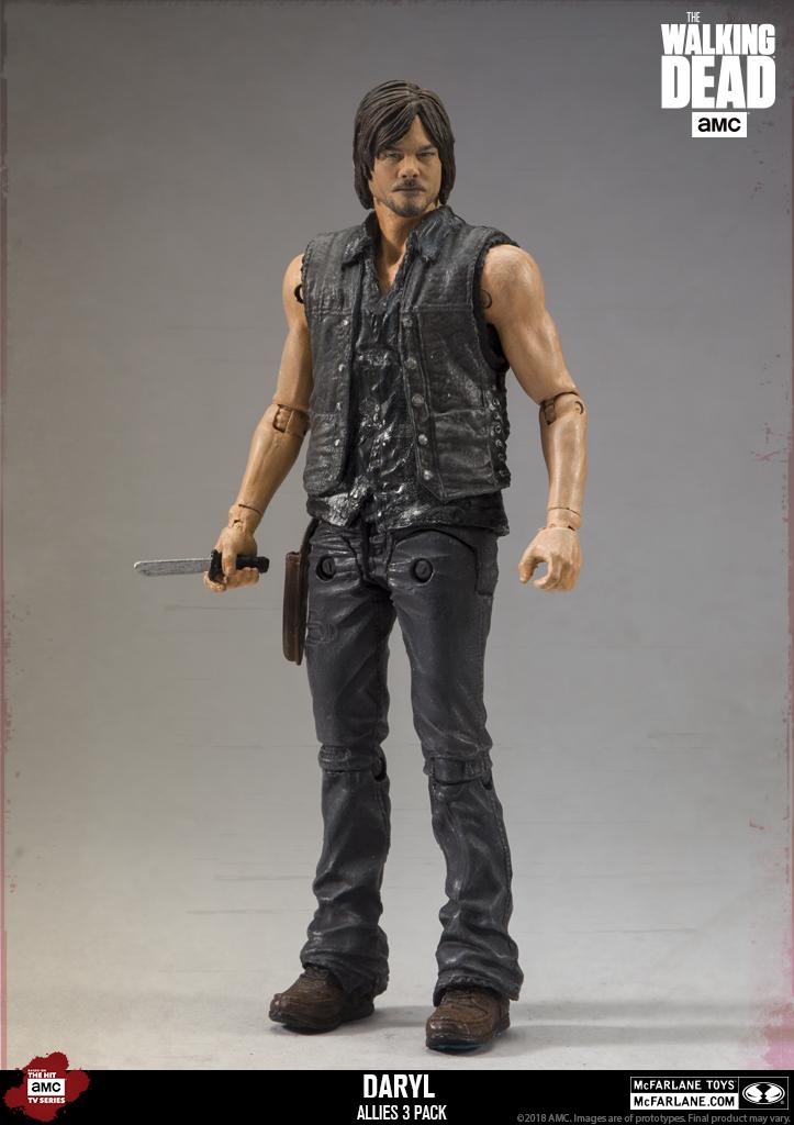 Rick /& JESUS Action Figure Set Ed alliés 3pk AMC The Walking Dead Ltd Daryl