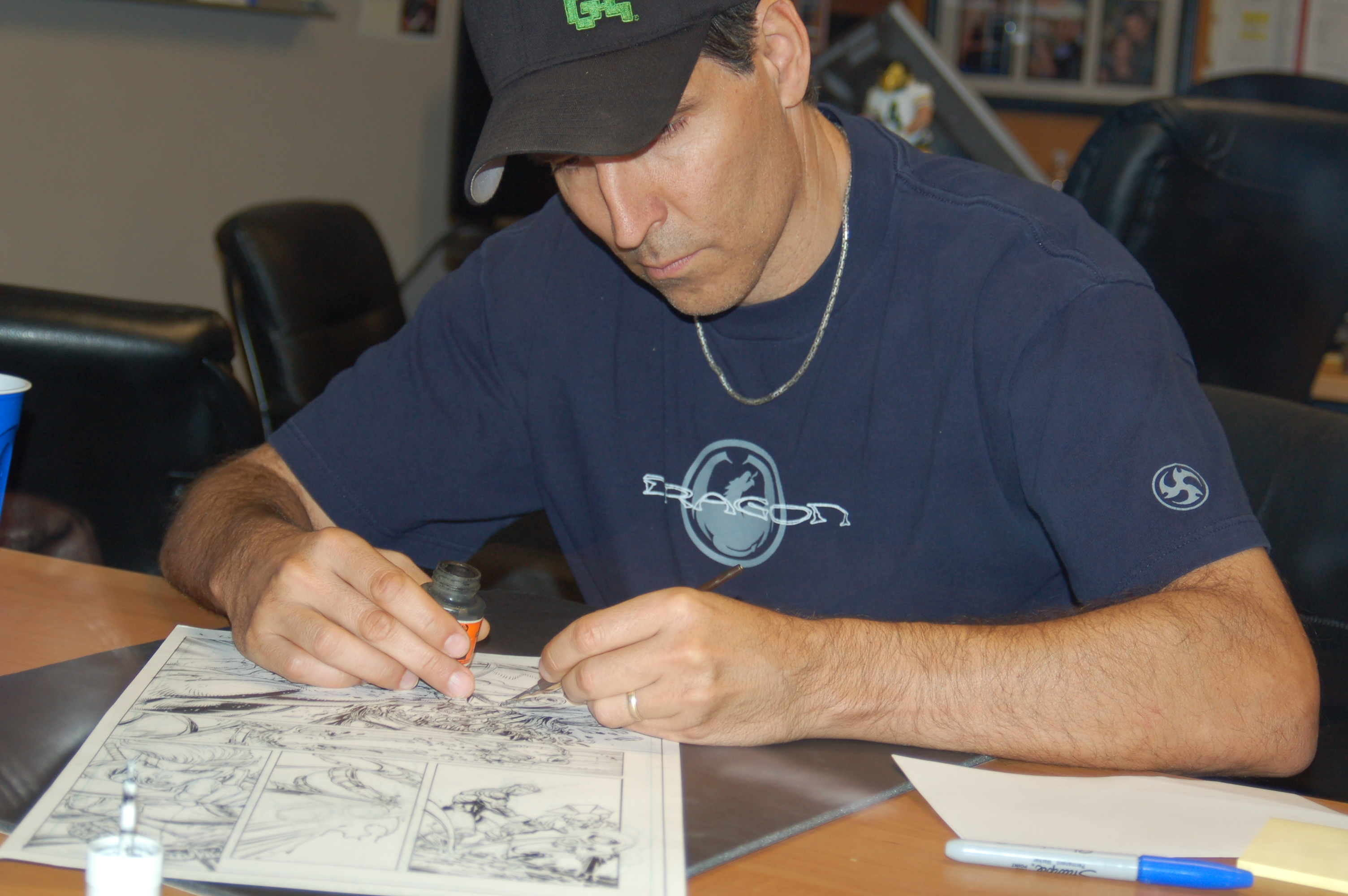 Todd inking on paper (11)