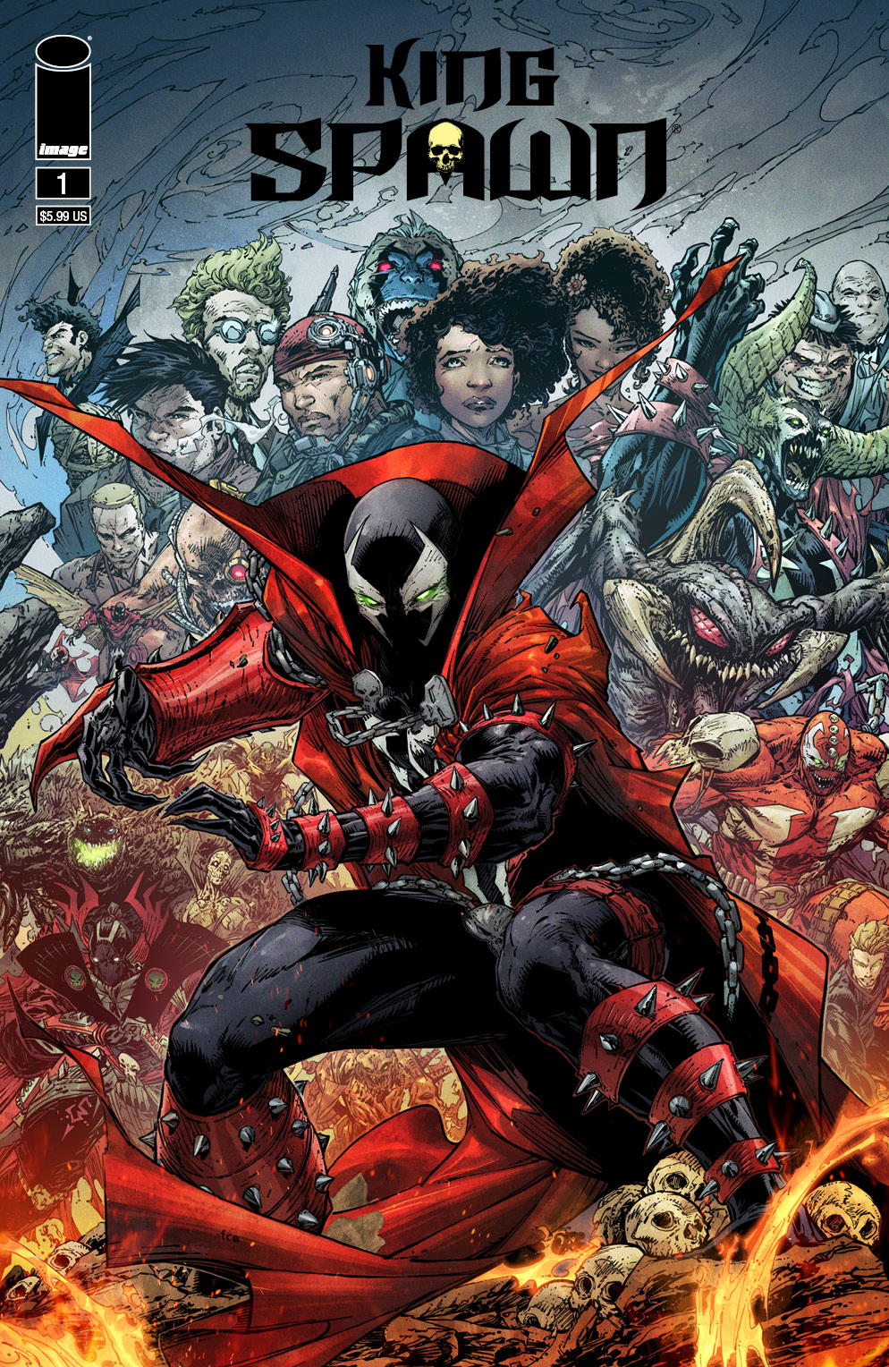King Spawn 1 Booth McFarlane COVER_F